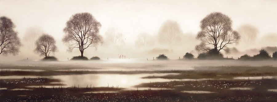 Free Time by John Waterhouse - Limited Edition on Paper sized 38x14 inches. Available from Whitewall Galleries